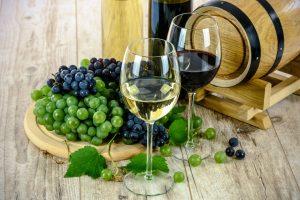 vin rouge blanc